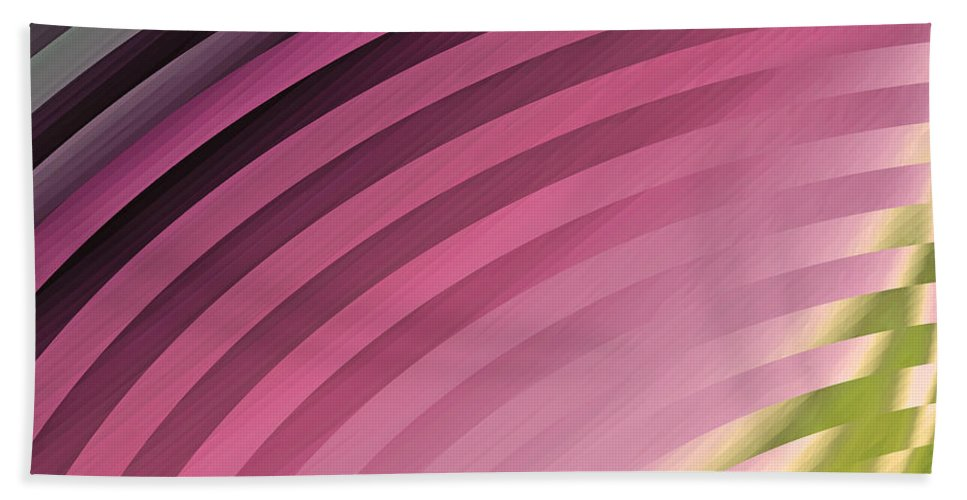 Satin Pillowcase Bath Sheet featuring the painting Satin Movements Pink II by Mindy Sommers