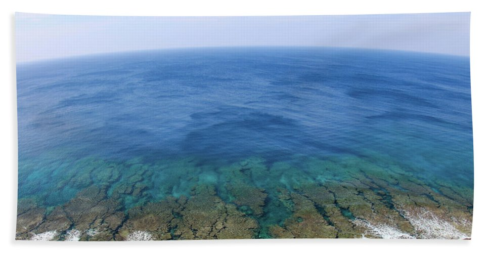 On Top Of The World Hand Towel featuring the photograph Save Our Seas by Shawn Miller