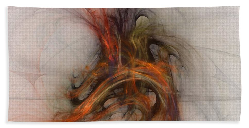 Saving Bath Towel featuring the digital art Saving Omega - Fractal Art by NirvanaBlues