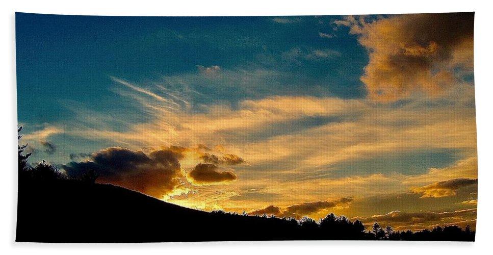 Sunset Bath Sheet featuring the photograph Savoring The Light by Elizabeth Tillar