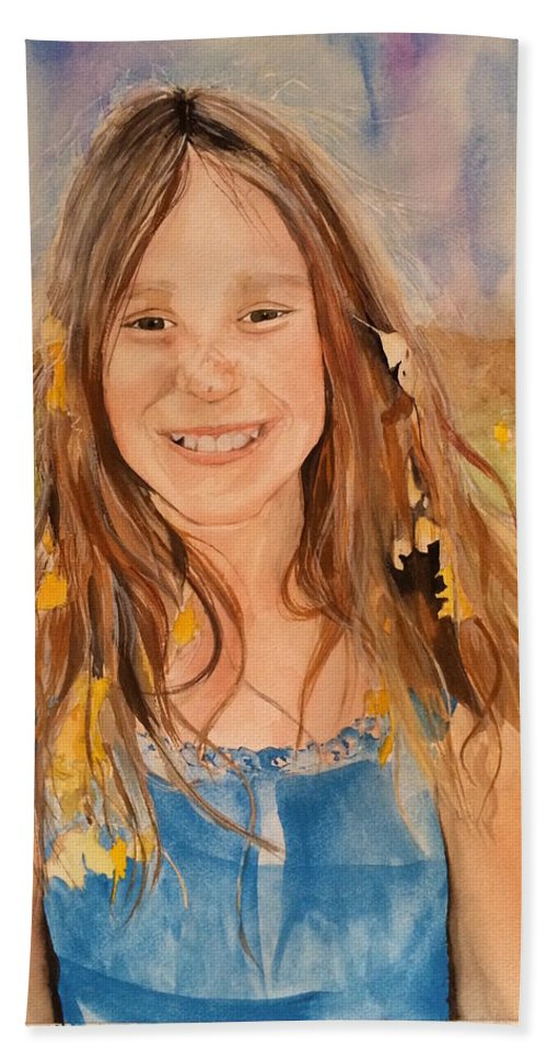 Child Bath Sheet featuring the painting Sawyer by Jean Blackmer