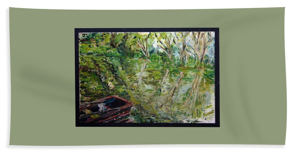 Landscape Bath Towel featuring the painting Sazava by Pablo de Choros