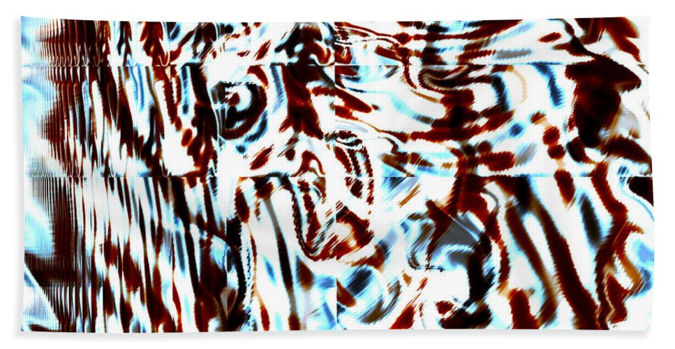 Abstract Hand Towel featuring the digital art Scabba by Blind Ape Art