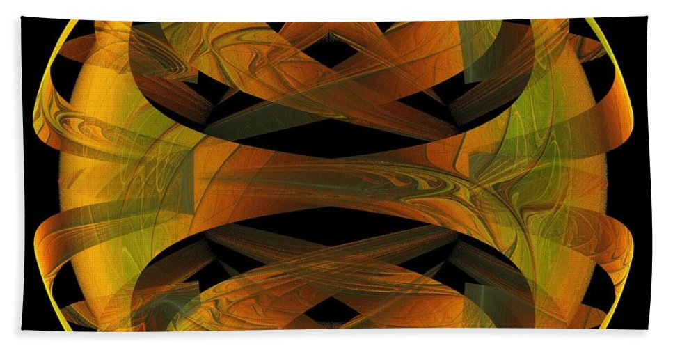 Digital Art Bath Sheet featuring the digital art Scarab by Amanda Moore