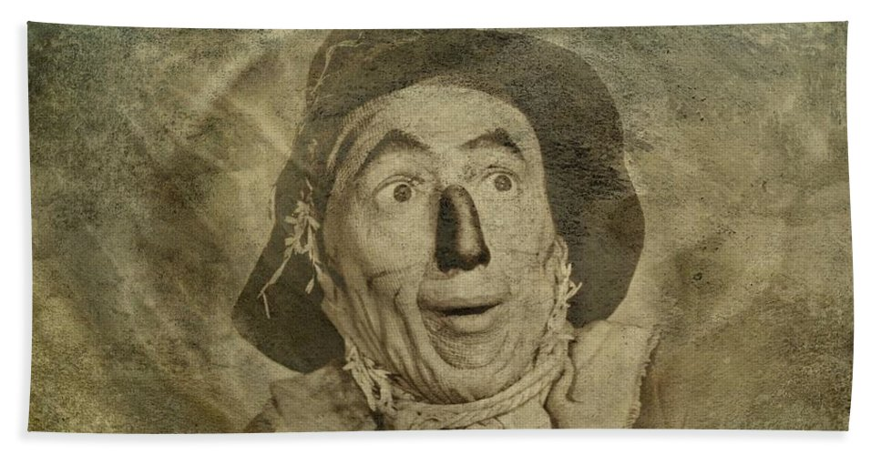 Scarecrow Hand Towel featuring the digital art Scarecrow by Movie Poster Prints