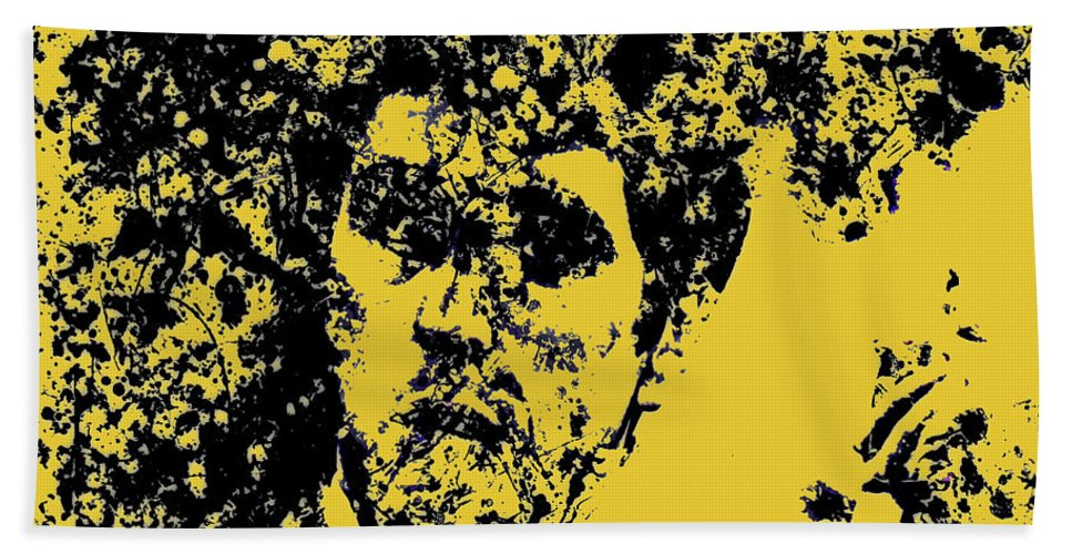 Scarface Bath Towel featuring the mixed media Scarface 2e by Brian Reaves
