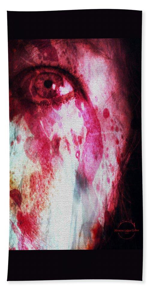 Eyes Bath Sheet featuring the digital art Scarlet Vision by Absinthe Art By Michelle LeAnn Scott