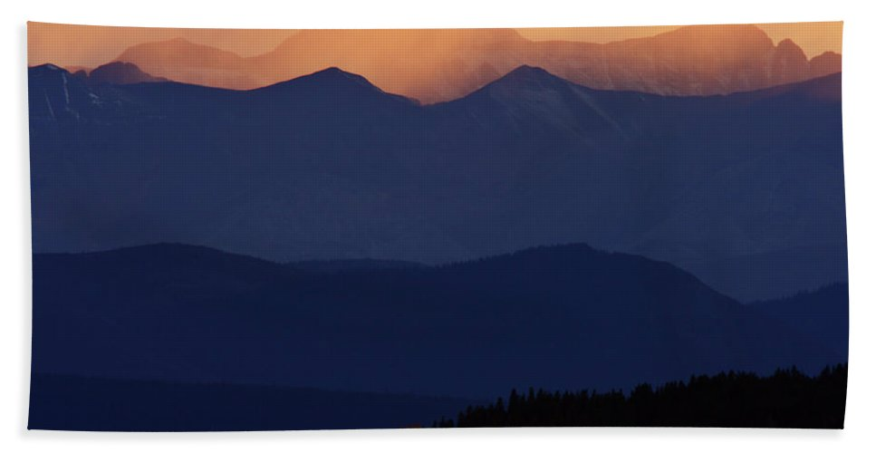Mountains Hand Towel featuring the digital art Scenic Northern Rockies Of British Columbia by Mark Duffy