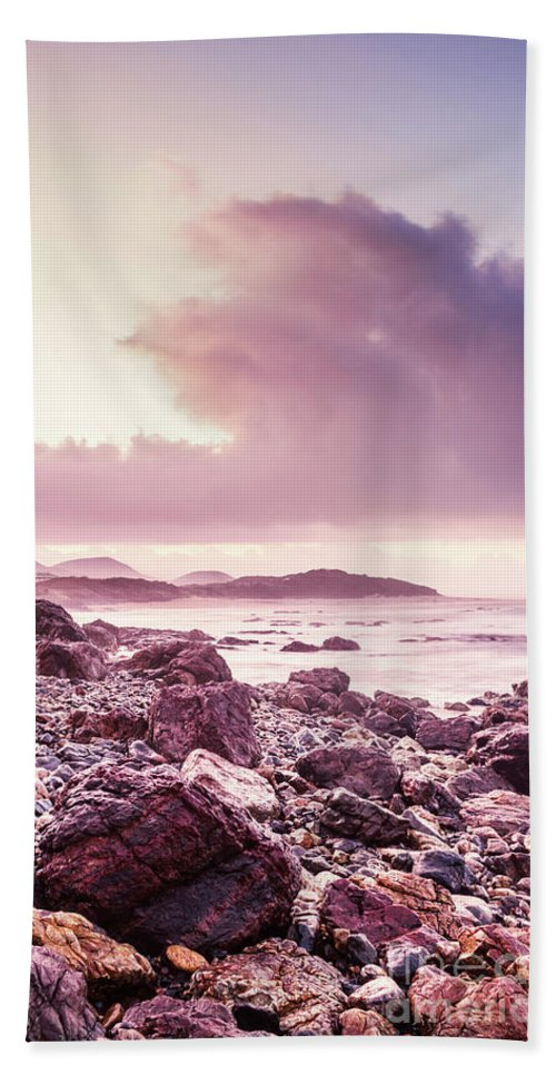 Dawn Hand Towel featuring the photograph Scenic Seaside Sunrise by Jorgo Photography - Wall Art Gallery