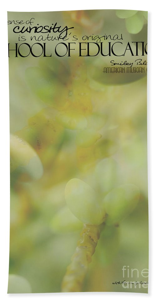 Palm Pods Hand Towel featuring the photograph School Of Curiosity 01 by Vicki Ferrari