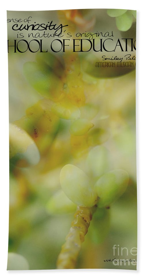 Palm Pods Hand Towel featuring the photograph School Of Curiosity 02 by Vicki Ferrari