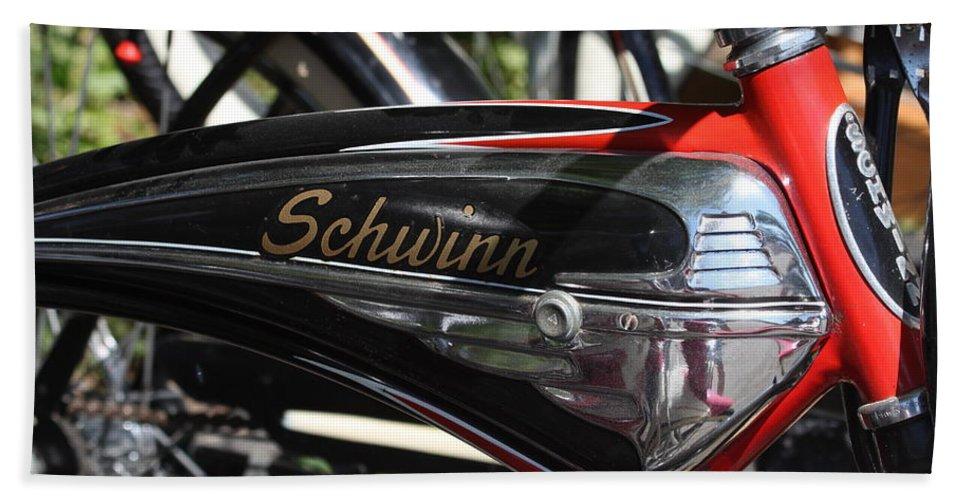 Schwinn Bath Sheet featuring the photograph Schwinn Black Phantom by Lauri Novak