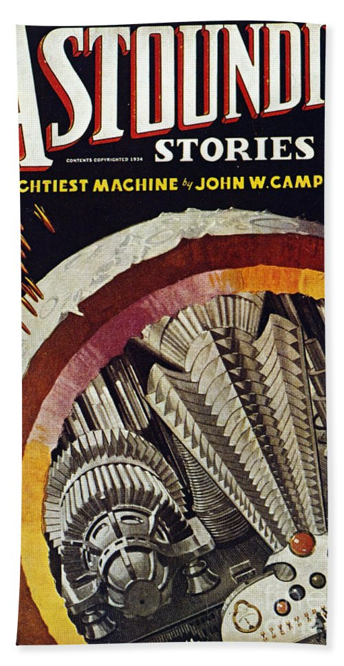 1934 Hand Towel featuring the photograph Science Fiction Cover, 1934 by Granger