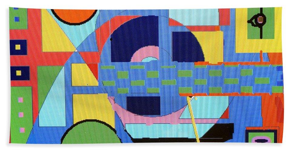 Digital Drawing Bath Towel featuring the digital art Scorpion King by Ian MacDonald