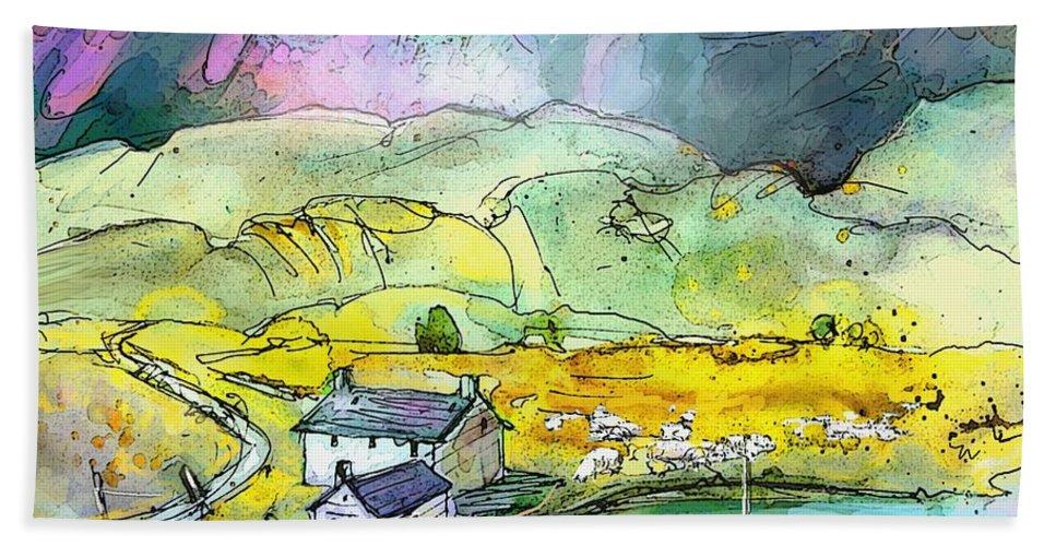 Scotland Bath Sheet featuring the painting Scotland 21 by Miki De Goodaboom