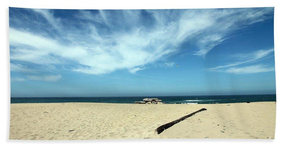scott Creek Beach Bath Towel featuring the photograph Scott Creek Beach California Usa by Amanda Barcon