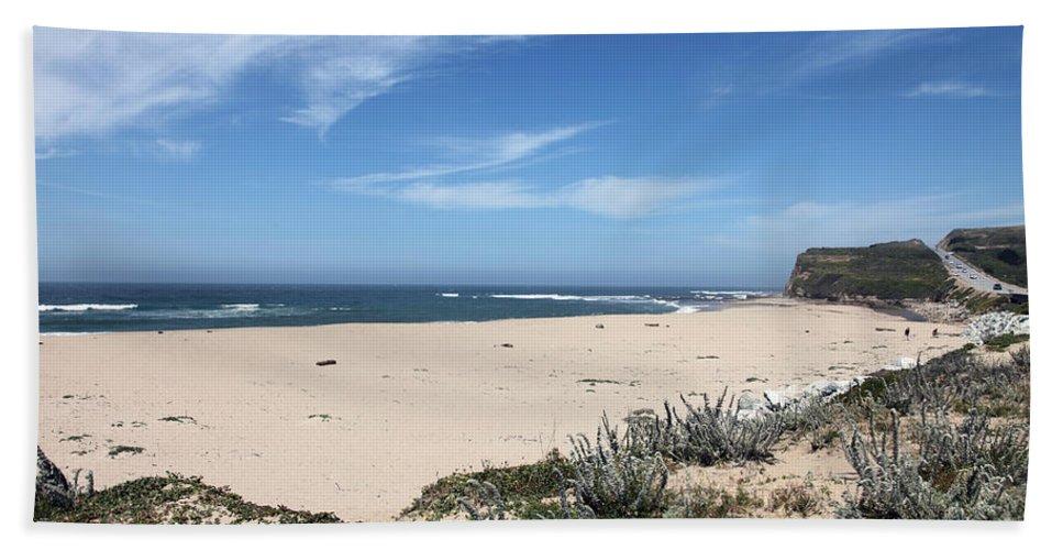Beaches Bath Sheet featuring the photograph Scott Creek Beach Hwy 1 by Amanda Barcon