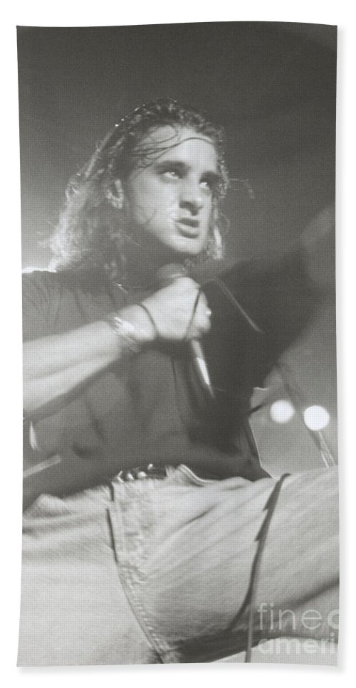Roseland Ballroom Nyc New York City Scott Stapp Creed 1998 9/15/98 Bloomrosen Bath Sheet featuring the photograph Scott Stapp Of Creed by J Bloomrosen
