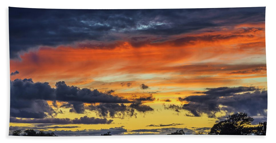 Sunset Hand Towel featuring the photograph Scottish Sunset by Jeremy Lavender Photography