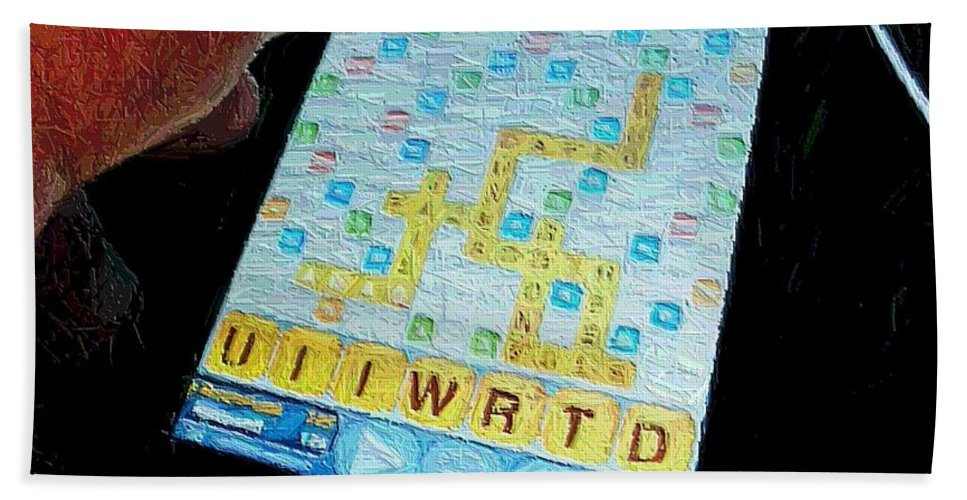 Scrabble Bath Towel featuring the photograph Scrabble by Ron Bissett
