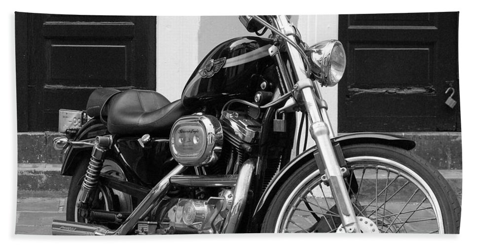 Motorcycle Bath Sheet featuring the photograph Screamin Eagle by Debbi Granruth