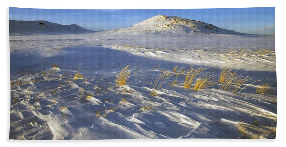 Winter Bath Towel featuring the photograph Sculpted By The Wind by Mike Dawson