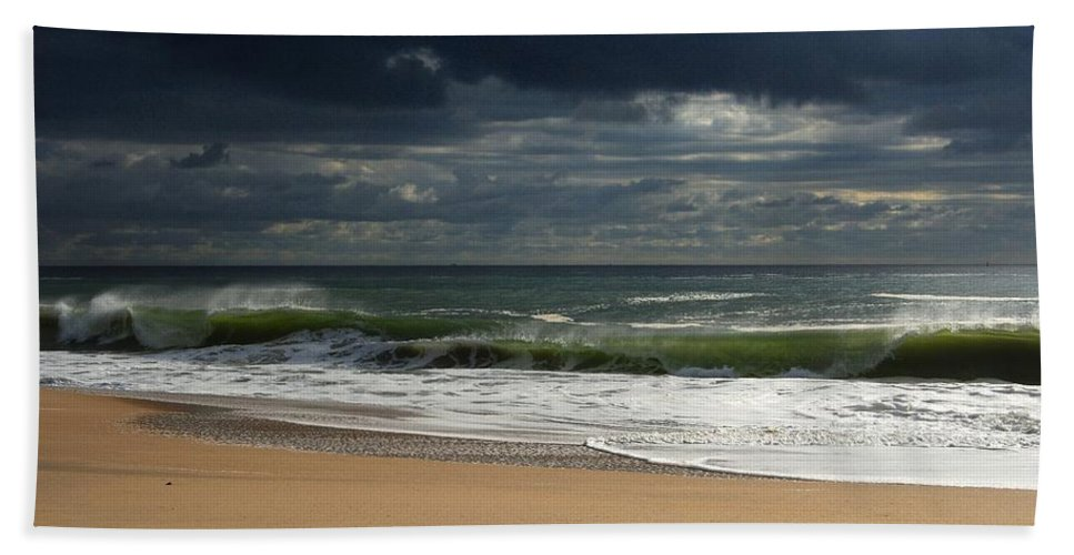 Jersey Shore Hand Towel featuring the photograph Sea And Sky - Jersey Shore by Angie Tirado
