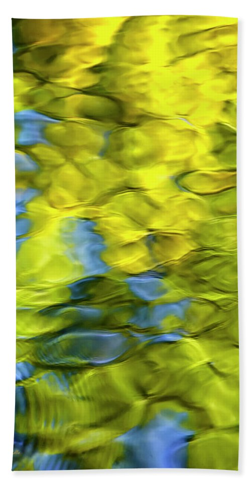 Water Hand Towel featuring the photograph Sea Breeze Mosaic Abstract by Christina Rollo