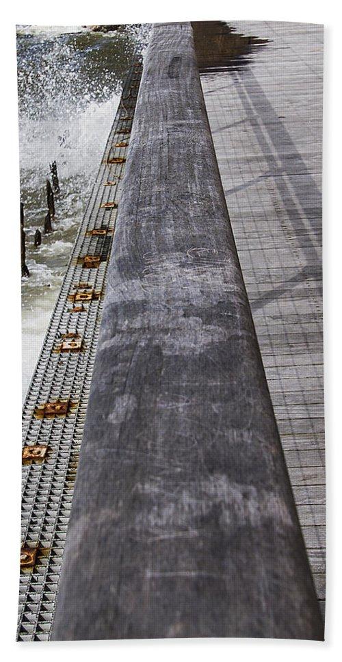 Landscape Bath Sheet featuring the photograph Sea Cliff Seawall Boardwalk by Bob Slitzan