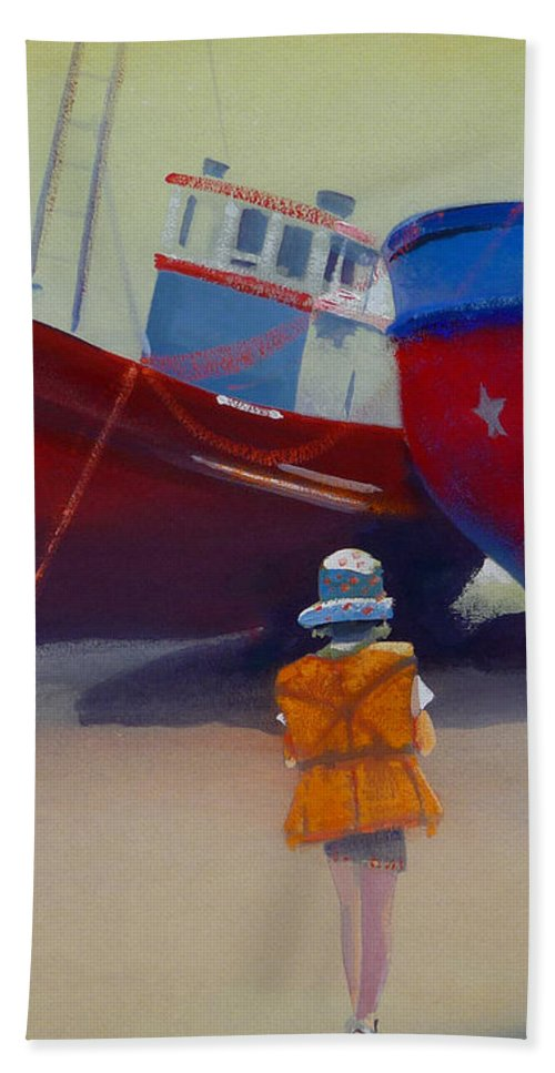 Dreamscape Hand Towel featuring the painting Sea Dreamer by Charles Stuart