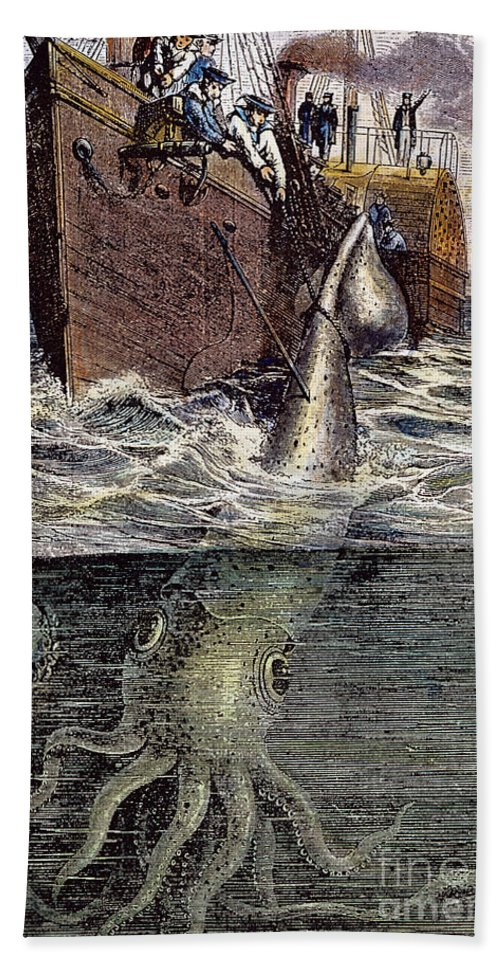 19th Century Hand Towel featuring the photograph Sea Monster by Granger