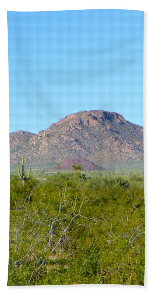 Tucson Bath Sheet featuring the photograph Sea Of Saguaros by Teresa Stallings
