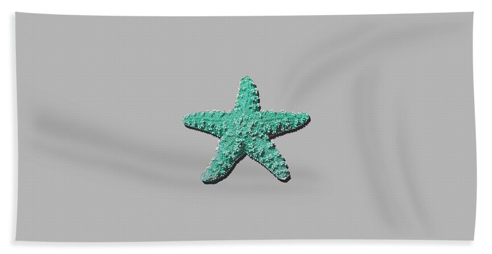 Sea Star Hand Towel featuring the photograph Sea Star Aqua .png by Al Powell Photography USA