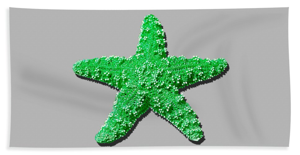 Sea Star Hand Towel featuring the photograph Sea Star Green .png by Al Powell Photography USA