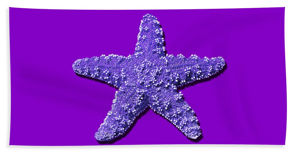 Sea Star Bath Sheet featuring the photograph Sea Star Purple .png by Al Powell Photography USA