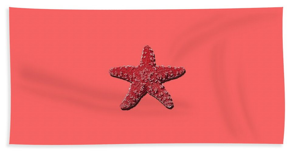 Sea Star Hand Towel featuring the photograph Sea Star Red .png by Al Powell Photography USA