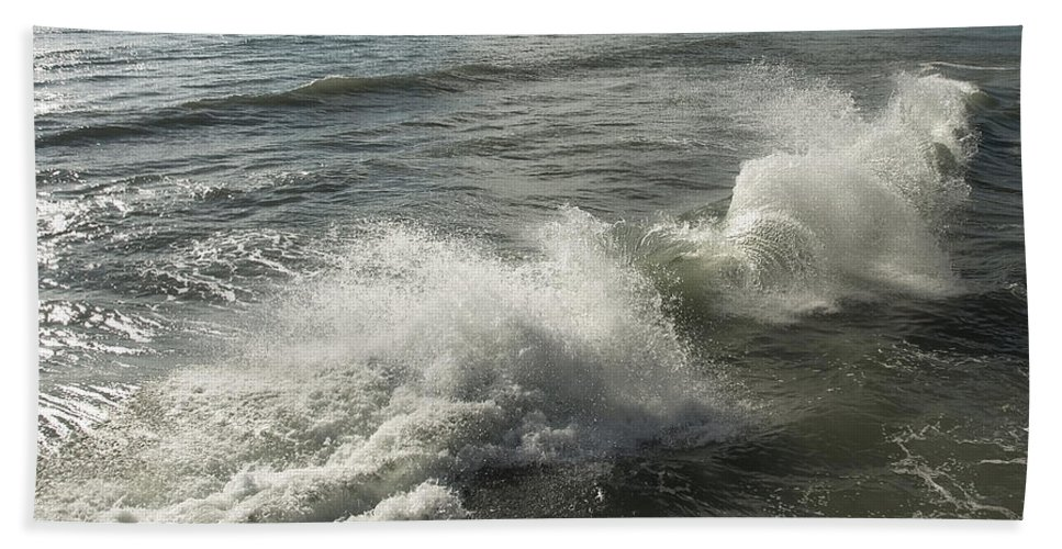 Aqua Bath Sheet featuring the photograph Sea Waves by Svetlana Sewell