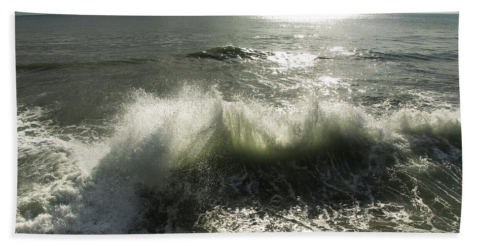 Aqua Bath Sheet featuring the photograph Sea Waves3 by Svetlana Sewell