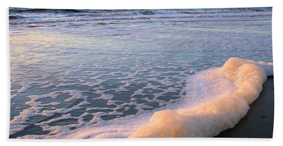 Ocean Hand Towel featuring the photograph Seafoam by Kristin Elmquist
