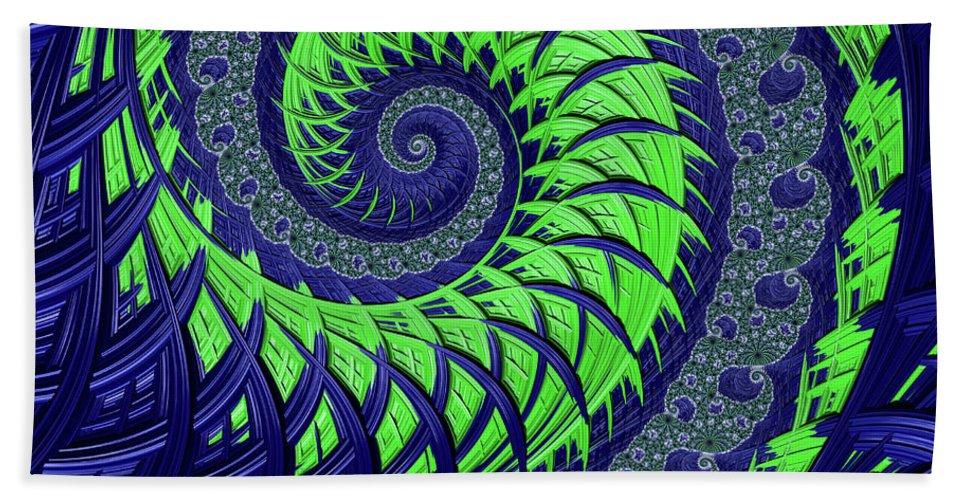 Seahawks Spiral Bath Sheet featuring the digital art Seahawks Spiral by Becky Herrera