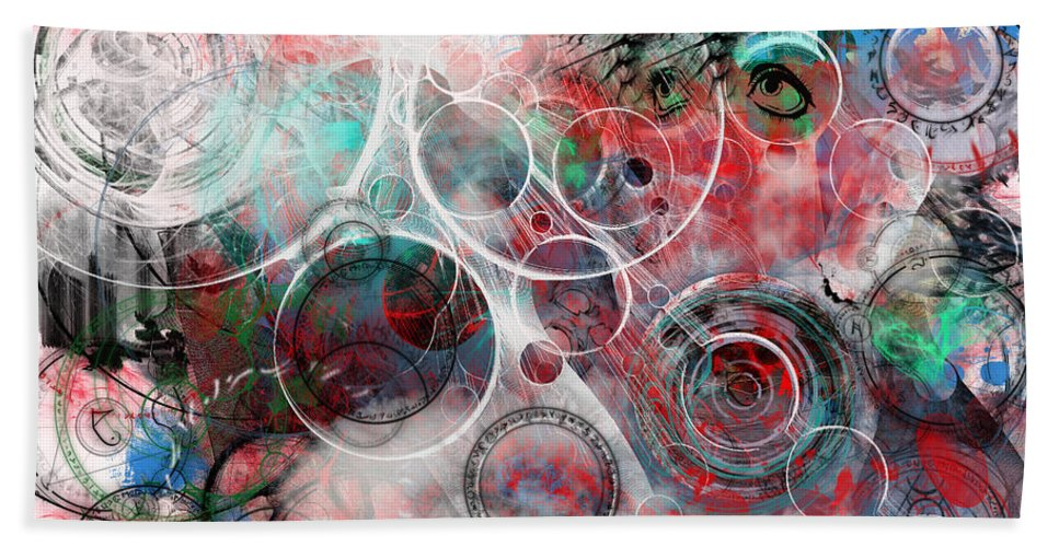 Digital Art Bath Sheet featuring the digital art Searching For An Answer by Adam Vance