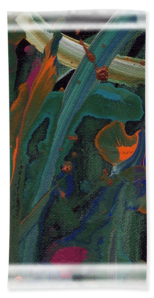 Sea Hand Towel featuring the painting Seascape Enhanced by Angela L Walker