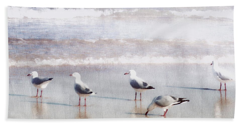 Landscapes Hand Towel featuring the photograph Seaspray by Holly Kempe