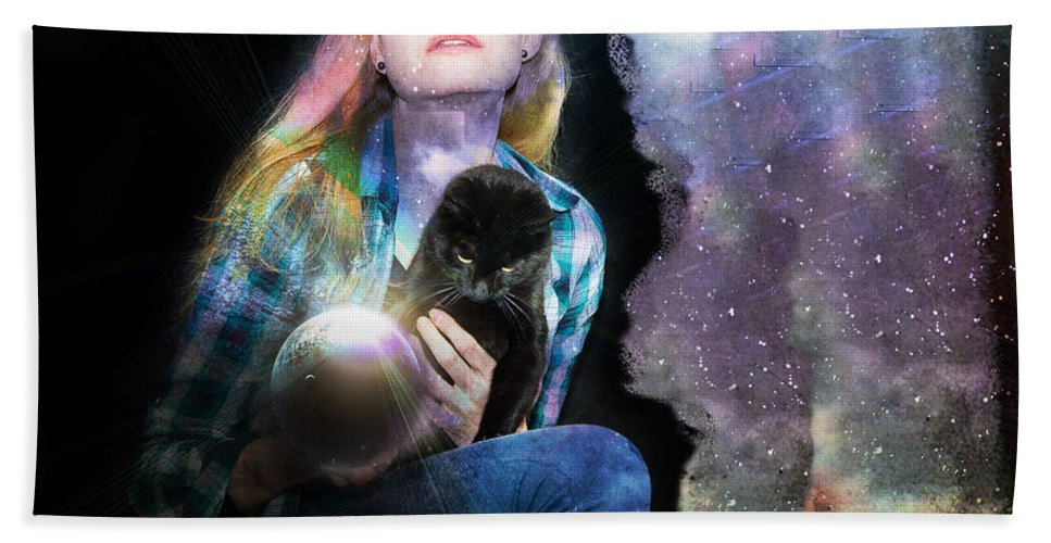 Cat Bath Sheet featuring the photograph Secession Of Time by Alex Art and Photo