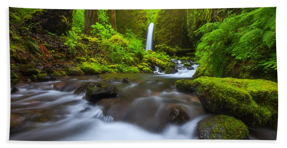 Oregon Bath Towel featuring the photograph Seclusion by Darren White
