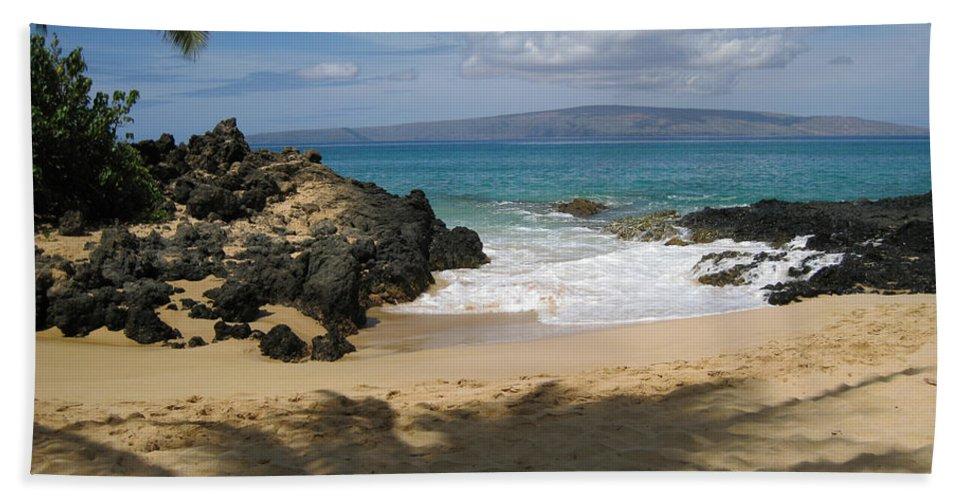 Tropical Bath Sheet featuring the photograph Secret Cove by Angie Hamlin