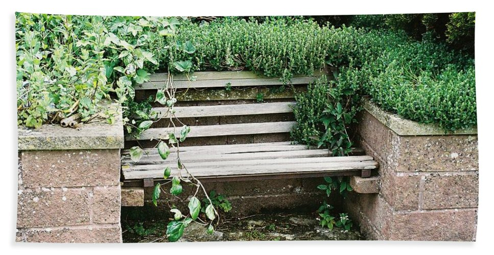 Bench Hand Towel featuring the photograph Secret Garden Bench by Lauri Novak