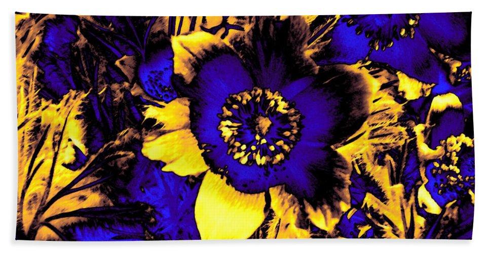 Flower Hand Towel featuring the mixed media Secret Garden by Steve K