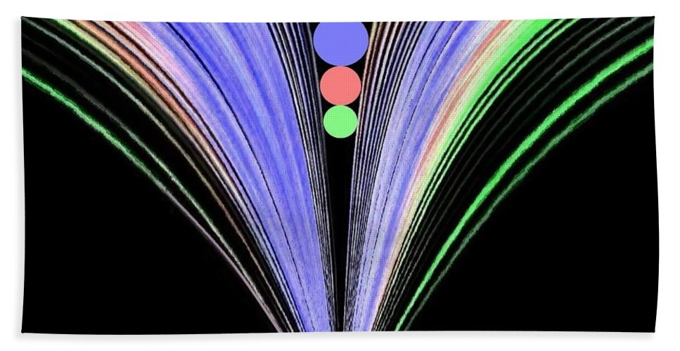 Abstract Bath Towel featuring the digital art Security by Will Borden
