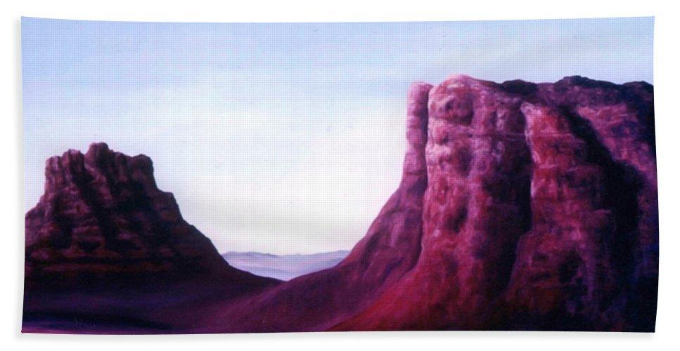 Arizona Bath Sheet featuring the painting Sedona by Melissa Joyfully